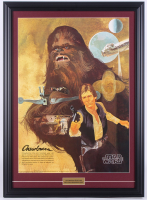 """Vintage 1977 """"Star Wars"""" Chewbacca 21.5x29.5 Custom Framed Coca-Cola Promotional Poster at PristineAuction.com"""