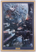 "1977 Original Promotional ""Star Wars: Episode IV -  A New Hope"" 24.5x35.5 Custom Framed Vintage Record LP Movie Poster Insert at PristineAuction.com"