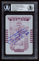 "Mike Ditka Signed 2017 Rookies and Stars Great American Heroes Printing Plates Magenta #8 Inscribed ""H.O.F. 88"" (BGS Encapsulated) at PristineAuction.com"