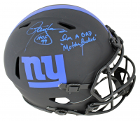 """Lawrence Taylor Signed Giants Full-Size Authentic On-Field Eclipse Alternate Speed Helmet Inscribed """"HOF 99"""" & """"I'm A Bad Mother******"""" (Beckett COA) at PristineAuction.com"""