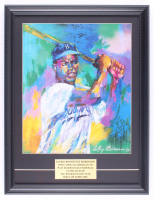 "LeRoy Neiman ""Jackie Robinson"" 15.25x19.75 Custom Framed Print Display at PristineAuction.com"