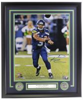 Russell Wilson Signed Seahawks 22x27 Custom Framed Photo Display (Beckett COA & Wilson Hologram) at PristineAuction.com