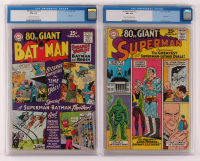 Lot of (2) CGC Graded DC Comic Books with 1965 Giant Batman Issue #12 (CGC 6.5) & 1965 Giant Superman Issue #11 (CGC 4.5) at PristineAuction.com