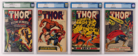 Lot of (4) CGC Graded Marvel Comic Books with 1965 The Mighty Thor Issue #135 (CGC 5.0), 1962 The Mighty Thor Issue #136 (CGC 6.5), The Mighty Thor, Issue #139 (CGC 6.5) & The Mighty Thor Issue #143 (CGC 7.0 ) at PristineAuction.com
