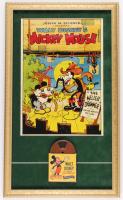 Vintage 1940's Walt Disney's Mickey Mouse 16x27 Custom Framed 9mm Film Reel Display at PristineAuction.com
