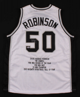 David Robinson Signed Career Highlight Stat Jersey (PSA Hologram) at PristineAuction.com