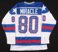 """1980 Team USA Hockey """"Miracle on Ice"""" Jersey Signed by (20) with Mike Eruzione, Jim Craig, Ken Morrow, Jack O'Callahan (Beckett Hologram) at PristineAuction.com"""