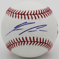 Ronald Acuna Jr. Signed OML Baseball (Radtke COA) at PristineAuction.com