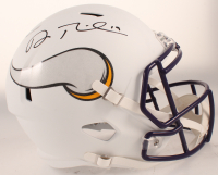 Adam Thielen Signed Vikings Full-Size Matte White Speed Helmet (Beckett COA) at PristineAuction.com