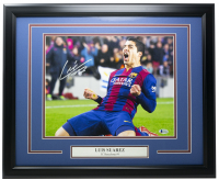 Luis Suarez Signed FC Barcelona 16x20 Custom Framed Photo (Beckett COA) at PristineAuction.com