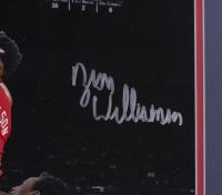 Zion Williamson Signed Pelicans 22x27 Custom Framed Photo (Fanatics Hologram) at PristineAuction.com