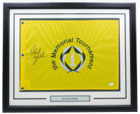 Phil Mickelson Signed Memorial Tournament 20x30 Custom Framed PGA Pin Flag Display (JSA LOA) at PristineAuction.com