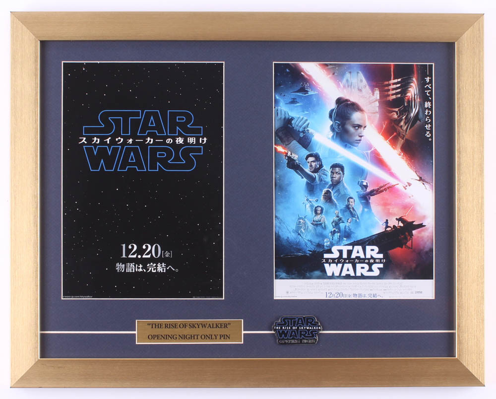 """""""Star Wars: The Rise of Skywalker"""" 15x19 Custom Framed Japanese Print Display with Opening Release Pin at PristineAuction.com"""