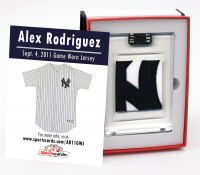 ALEX RODRIGUEZ 2011 NY YANKEES GAME WORN JERSEY MYSTERY SWATCH BOX! at PristineAuction.com