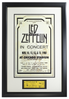 Led Zeppelin 16x23 Custom Framed Print Display with Authentic Ticket From 1980 Concert at PristineAuction.com