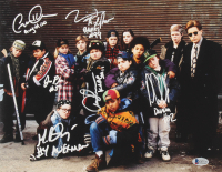 """The Mighty Ducks"" 11x14 Photo Cast-Signed by (6) with Matt Doherty, Jane Plank, Vincent LaRusso, Danny Tamberelli with Multiple Character Inscriptions (Beckett COA) at PristineAuction.com"
