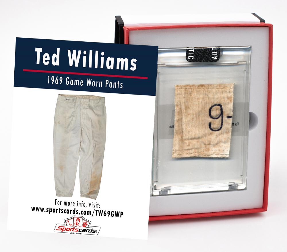 TED WILLIAMS 1969 WASHINGTON SENATORS GAME WORN PANTS MYSTERY SWATCH BOX! at PristineAuction.com
