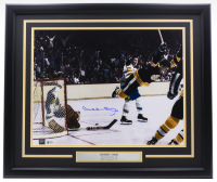 Bobby Orr Signed Bruins 22x27 Custom Framed Photo Display (Orr COA & Beckett COA) at PristineAuction.com