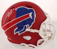 Josh Allen Signed Bills Full-Size AMP Alternate Speed Helmet (Beckett COA) at PristineAuction.com