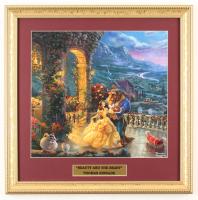 "Thomas Kinkade Walt Disney's ""Beauty and the Beast"" 16x16 Custom Framed Print Display at PristineAuction.com"