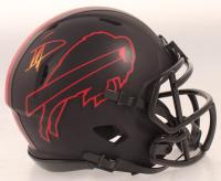 Stefon Diggs Signed Bills Eclipse Alternate Speed Mini Helmet (Beckett COA) at PristineAuction.com