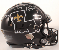 """Ricky Williams Signed Saints Full-Size Authentic On-FIeld Speed Helmet Inscribed """"Puff, Puff, Run"""", """"The Chronicles of Ricky"""" & """"Smoke Weed Everyday!"""" (JSA COA) at PristineAuction.com"""