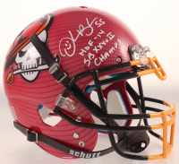 """Derrick Brook Signed Full-Size Authentic On-Field Hydro-Dipped Helmet Inscribed """"HOF-14"""" & """"SB XXXVII Champs"""" (Beckett COA) at PristineAuction.com"""