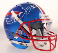 Josh Allen Signed Bills Full-Size Chrome Helmet (Beckett COA) at PristineAuction.com