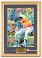 """LeRoy Neiman """"Nolan """"The Ryan Express"""" Ryan"""" Astros 13x18 Custom Framed Print Display with 1860's Astros Pin at PristineAuction.com"""