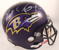 Ed Reed & Ray Lewis Signed Ravens Full-Size Helmet (Beckett COA) at PristineAuction.com