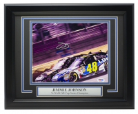 Jimmie Johnson Signed 11x14 Custom Framed Photo Display (PSA COA) at PristineAuction.com