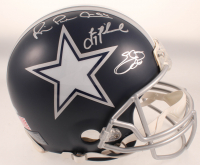 """Troy Aikman, Emmitt Smith & Michael """"Playmaker"""" Irvin Signed Cowboys Full-Size Authentic On-Field Helmet (Beckett COA & Prova COA) at PristineAuction.com"""