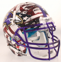 Ray Lewis Signed Ravens Full-Size Authentic On-Field Hydro-Dipped Helmet (Beckett COA) at PristineAuction.com