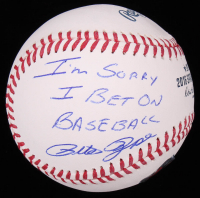 "Pete Rose Signed 2016 Spring Training Baseball Inscribed ""I'm Sorry I Bet On Baseball"" (Fiterman Hologram) at PristineAuction.com"