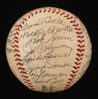 1954 Yankees OAL Baseball Team-Signed by (31) with Mickey Mantle, Yogi Berra, Phil Rizzuto, Bill Dickey, Whitey Ford (JSA LOA & PSA LOA) at PristineAuction.com