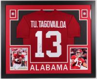 Tua Tagovailoa Signed 35x43 Custom Framed Jersey Display (Beckett COA) at PristineAuction.com