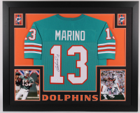 Dan Marino Signed 35x43 Custom Framed Jersey (JSA COA) at PristineAuction.com
