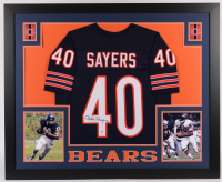 Gale Sayers Signed 35x43 Custom Framed Jersey (PSA Hologram) at PristineAuction.com