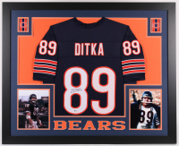 Mike Ditka Signed 35x43 Custom Framed Jersey (Beckett COA) at PristineAuction.com