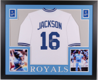 Bo Jackson Signed Royals 35x43 Custom Framed Jersey (Beckett COA) at PristineAuction.com