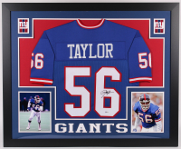 Lawrence Taylor Signed 35x43 Custom Framed Jersey (Beckett COA) at PristineAuction.com