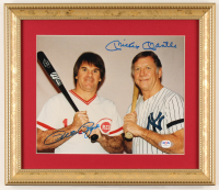 Pete Rose & Mickey Mantle Signed 11.5x13.5 Custom Framed Photo Display (PSA LOA) at PristineAuction.com