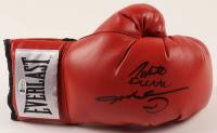 Sugar Ray Leonard & Roberto Duran Signed Everlast Boxing Glove (Beckett COA) at PristineAuction.com