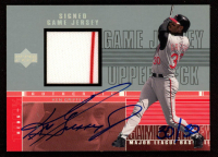 Ken Griffey Jr. 2000 Upper Deck Game Jersey Autograph Numbered #KG Reds H2 at PristineAuction.com