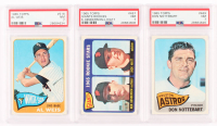 Lot of (3) PSA Graded 1965 Topps Baseball Cards with Don Nottebart #469 (PSA 7), Giants Rookies #497 (PSA 7) & Al Weis #516 (PSA 7) at PristineAuction.com