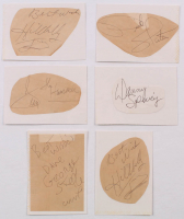 Lot of (6) Signed Vintage Wrestlers Cuts with Greg Valentine, (2) Hillbilly Jim, George Steele, Dick Slater & Dan Spivey (JSA ALOA) at PristineAuction.com