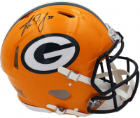 Aaron Jones Signed Packers Full-Size Authentic On-Field Helmet (Radtke COA) at PristineAuction.com