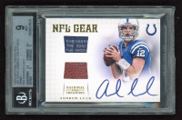 Andrew Luck 2012 Panini National Treasures NFL Gear Combos Signatures Prime #24 (BGS 9) at PristineAuction.com