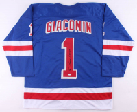 """Eddie Giacomin Signed Jersey Inscribed """"H.O.F. 87"""" (JSA COA) at PristineAuction.com"""