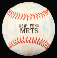 New York Mets 1986 World Series Champions Baseball Team-Signed by (26) with Keith Hernandez, George Foster, Mike Torrez, Mel Stottlemyer (JSA ALOA) at PristineAuction.com